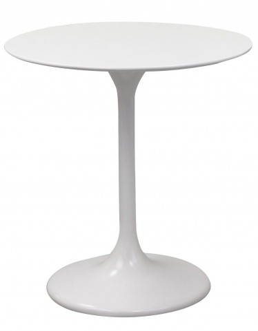 "Lippa 28"" White Fiberglass Dining Table"