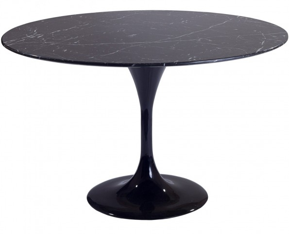 "36"" Lippa Table with Black Marble Top"