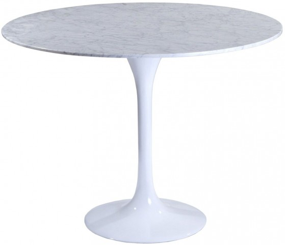 """36"""" Lippa Table with White Marble Top"""