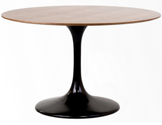 "48"" Lippa Table in Black with Walnut Top"