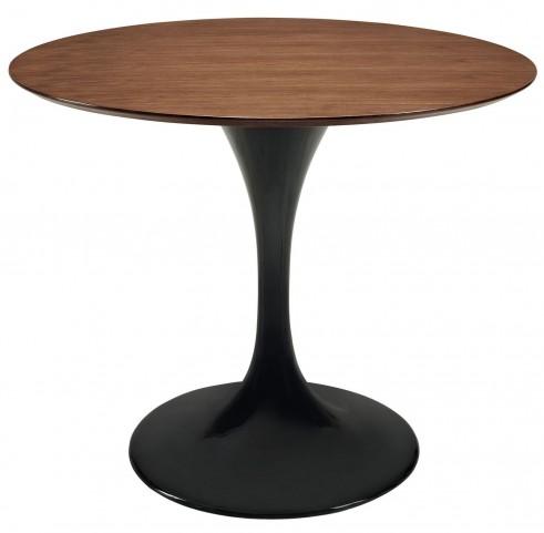 "Lippa 36"" Black Wood Top Dining Table"
