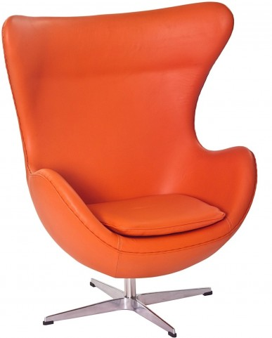 Glove Chair in Orange Aniline Leather