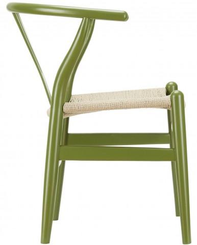 Amish Green Wood Armchair