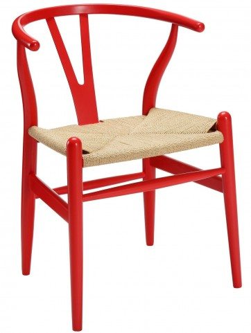 Amish Red Wood Armchair