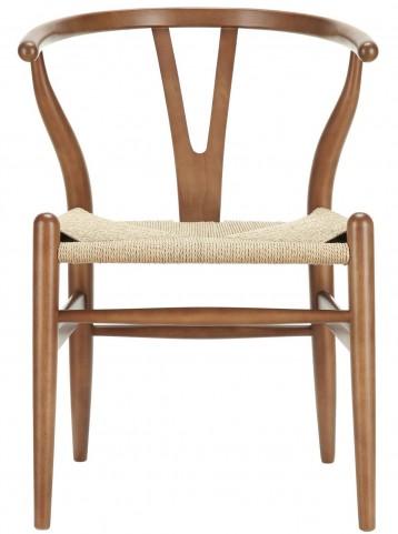 Amish Walnut Wood Armchair