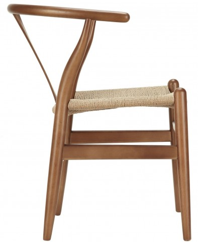Amish Walnut Wood Armchair