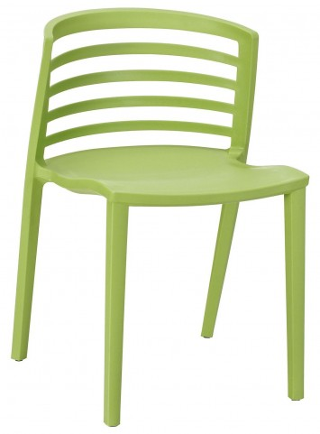 Curvy Green Dining Side Chair