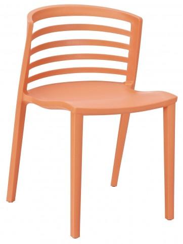 Curvy Orange Dining Side Chair