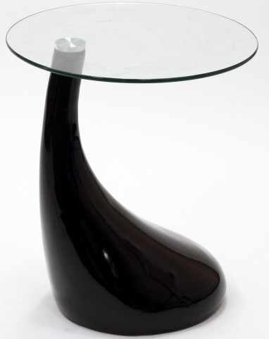 Teardrop Side Table in Black