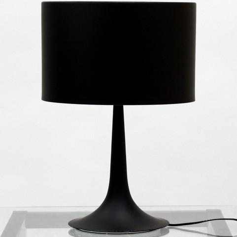 Silk Table Lamp in Black