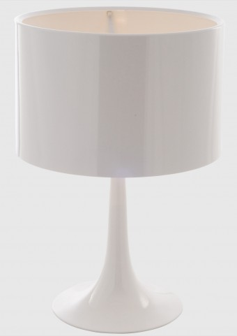 Silk Table Lamp in White