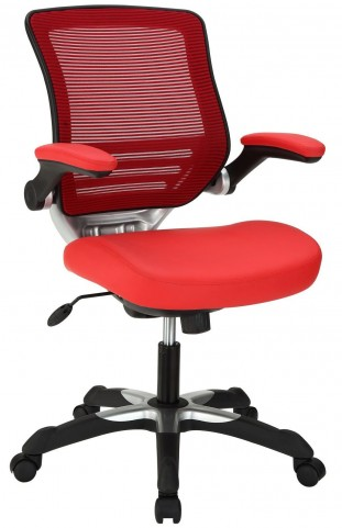 Edge Red Vinyl Office Chair