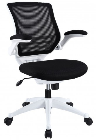 Edge Black White Base Office Chair