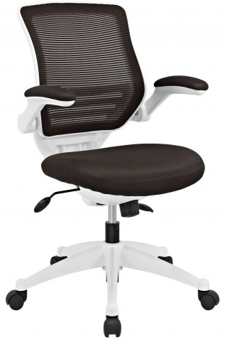Edge Brown White Base Office Chair