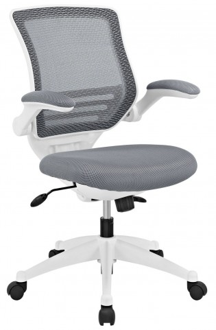 Edge Gray White Base Office Chair