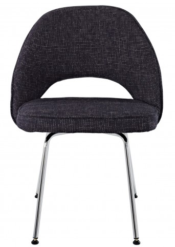 Cordelia Side Chair in Black Fabric