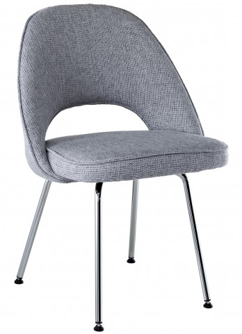 Cordelia Side Chair in Light Gray Fabric