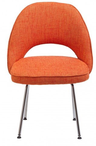 Cordelia Side Chair in Orange Fabric
