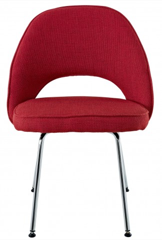 Cordelia Side Chair in Red Fabric