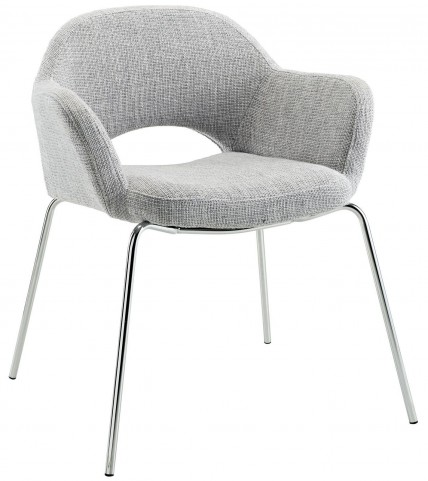 Cordelia Light Gray Dining Armchair