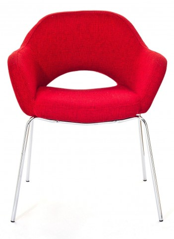 Cordelia Armchair in Red Fabric