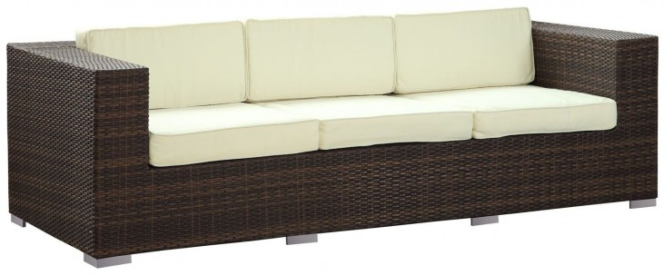 Daytona White Outdoor Patio Sofa