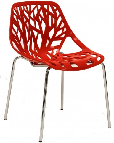 Stencil Chair in Red Plastic
