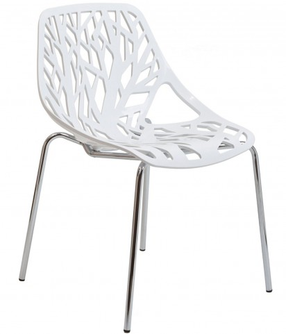 Stencil Chair in White Plastic