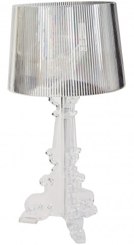 French Acrylic Table Lamp in Clear