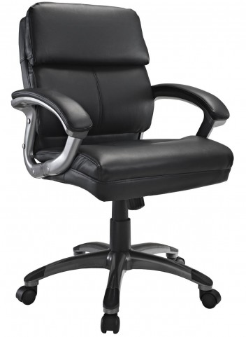 Stellar Black Mid Back Office Chair