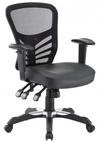 Articulate Black Vinyl Office Chair
