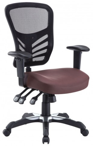 Articulate Brown Vinyl Office Chair
