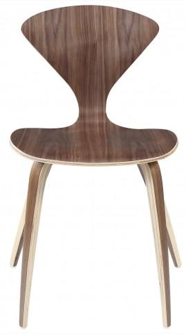The Vortex Chair Stacking Chair in Dark Walnut