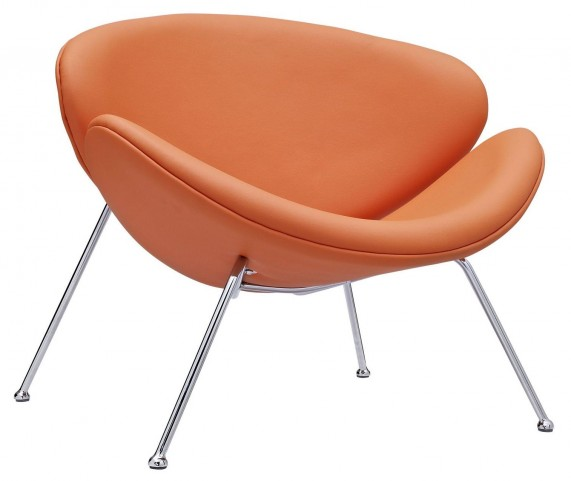 Nutshell Orange Lounge Chair