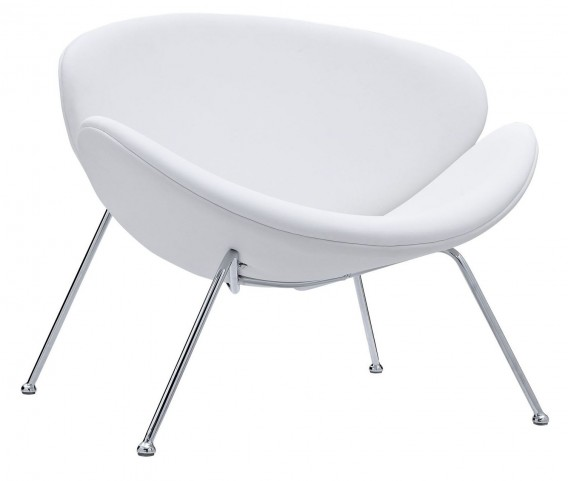 Nutshell White Lounge Chair