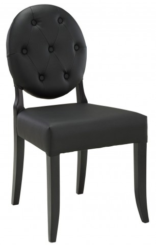 Button Black Dining Side Chair