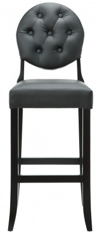 Button Black Bar Stool