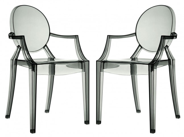Casper Smoke Dining Armchairs Set of 2