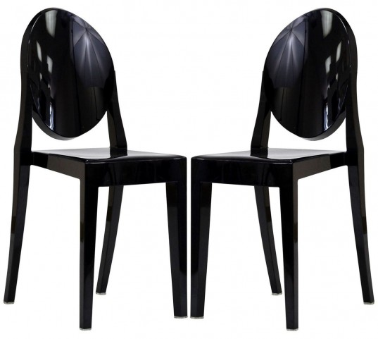 Casper Black Dining Chairs Set of 2