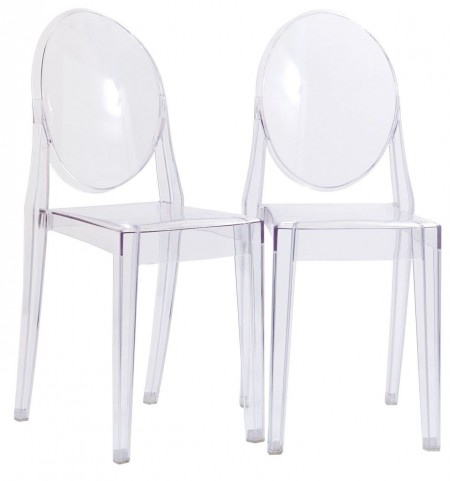 Casper Clear Dining Chairs Set of 2