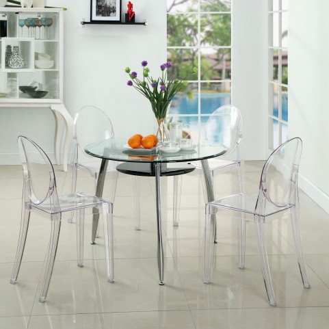 Casper Clear Dining Chairs Set of 4