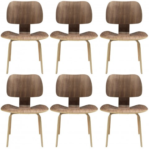 Fathom Walnut Dining Chairs Set of 6