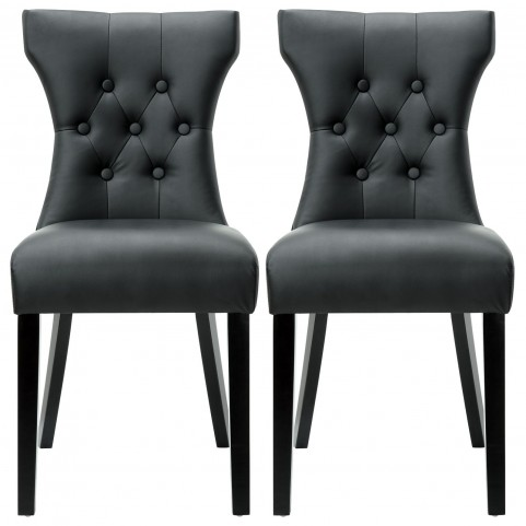 Silhouette Black Dining Chairs Set of 2