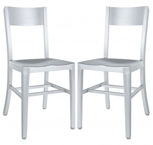 Milan Silver Dining Chairs Set of 2