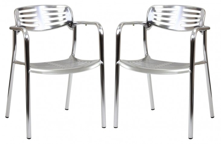 Ohio Silver Dining Chairs Set of 2