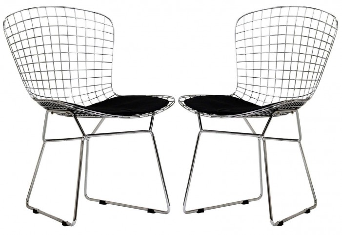 CAD Black Dining Chairs Set of 2
