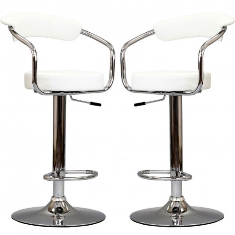 Diner White Bar Stool Set of 2