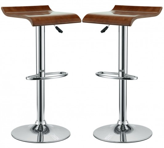 Bentwood Oak Bar Stool Set of 2