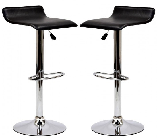 Gloria Black Bar Stool Set of 2