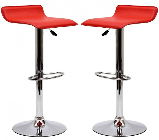 Gloria Red Bar Stool Set of 2
